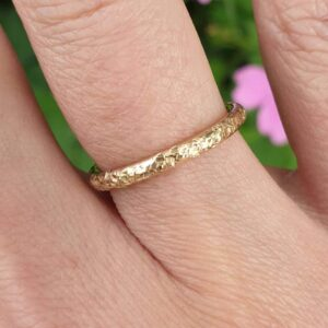 Gold 9 carat Sparkle Ring from Volant Silver