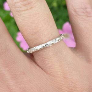 Solid sterling silver sparkle ring by Volant Silver